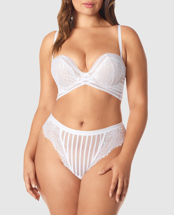 Strapless Up 2 Cup Push Up Bra White 3