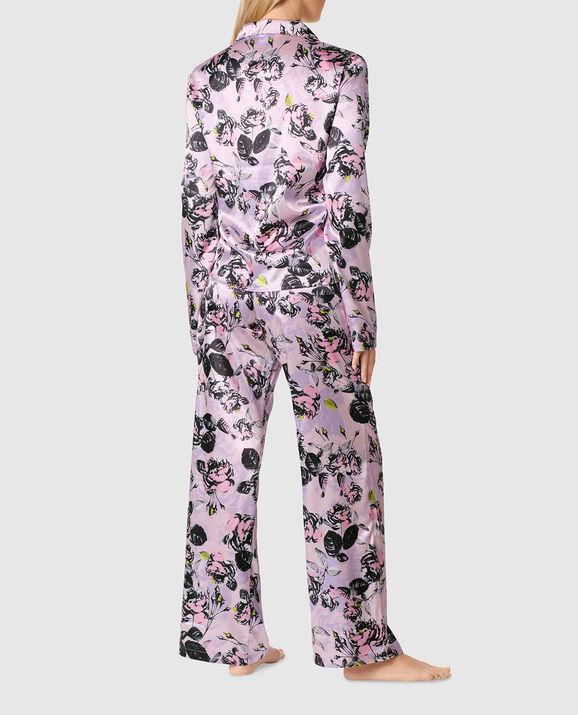 Satin Pajama Set Alice Floral 2
