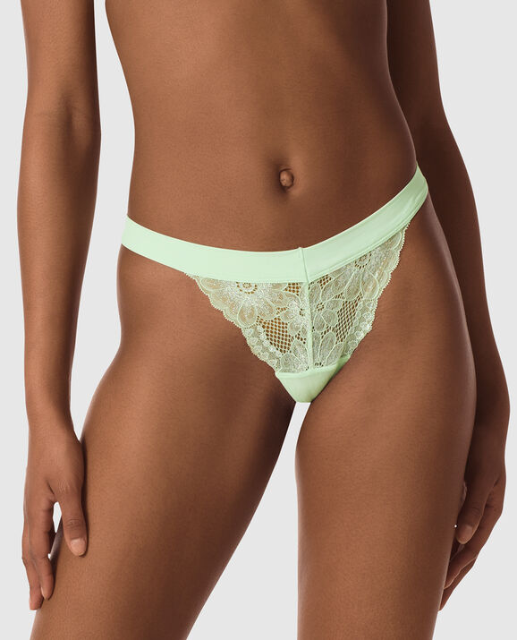 Thong Panty Pale Green 1