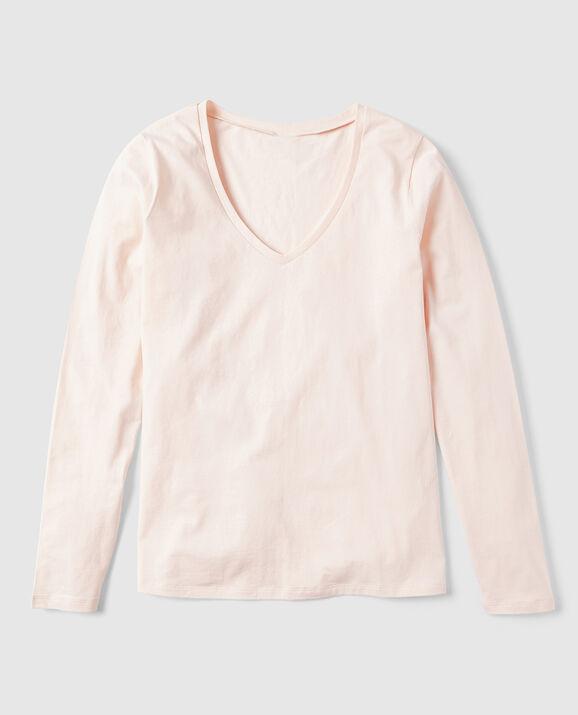 Long Sleeve V-Neck Primrose Pink 2