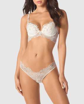 Lightly Lined Demi Bra Coconut White 1