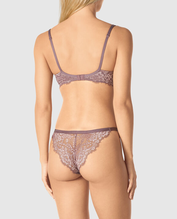 Lightly Lined Balconette Bra Mauve Quartz 2