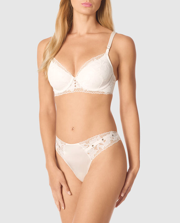 Lightly Lined Full Coverage Bra Coconut White 1
