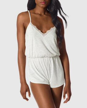 Soft Romper with Lace Heather Grey Frost 1
