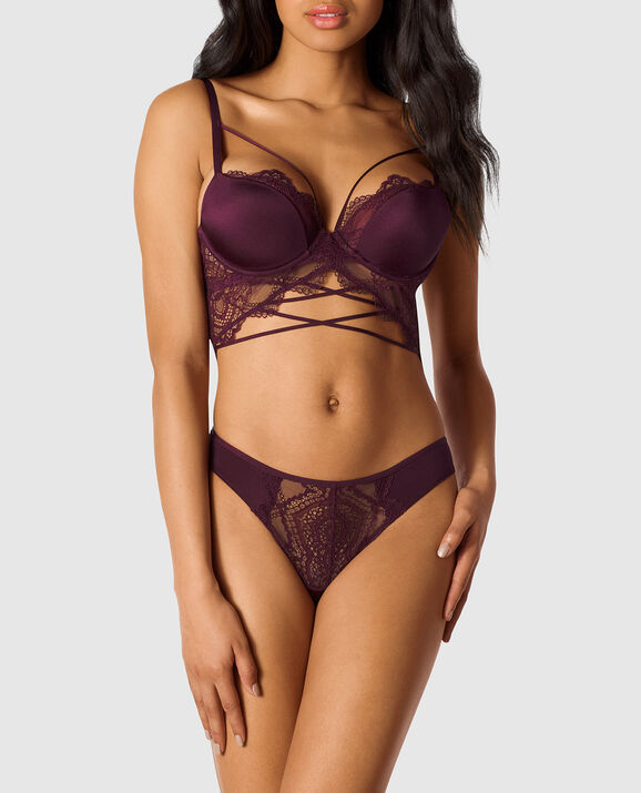 Lightly Lined Demi Bra Black Orchid 1