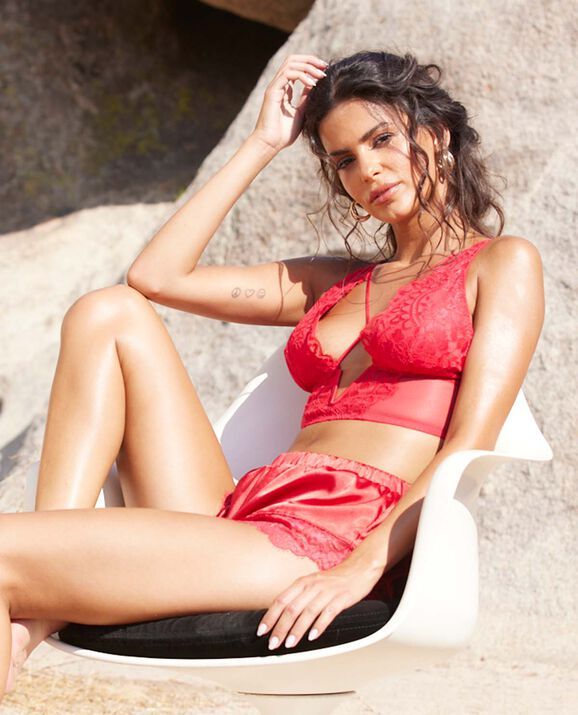 Lightly Lined Bra Top Cosmo Red 2