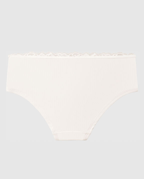 Ribbed Hipster Panty Coconut White 2