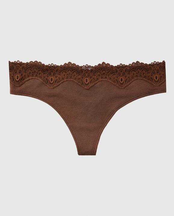 Ribbed Thong Panty Chocolate Cake 1