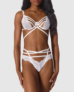 Unlined Lace Bra White 1