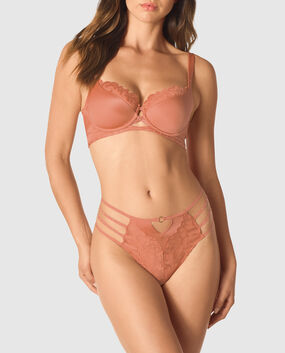 Lightly Lined Balconette Bra Desert Blush 1
