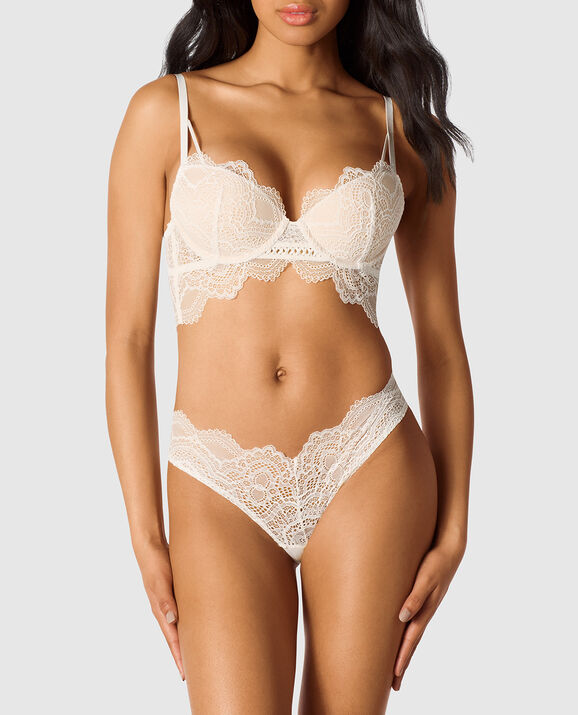 Lightly Lined Demi Bra Coconut White 3