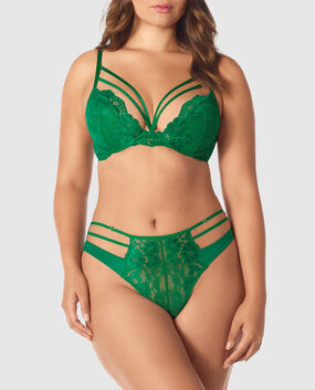 Push Up Bra Glam Green 1