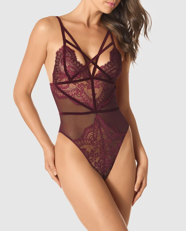 Strappy Lace Bodysuit