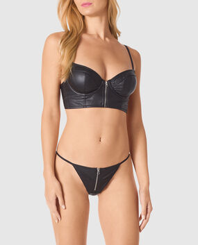 Unlined Demi Bra Smoulder Black 1