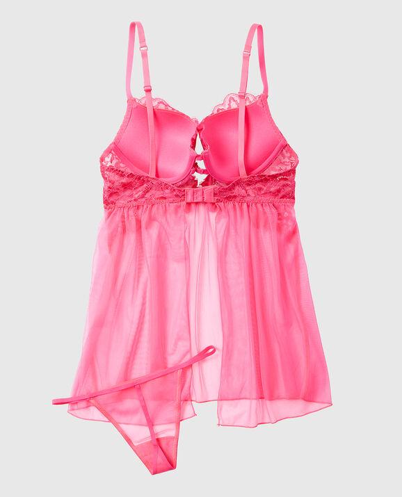 Push Up Babydoll Haute Pink 2