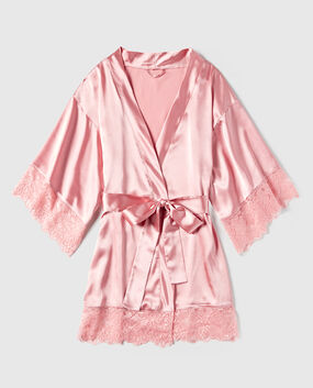 Satin Kimono Smoulder Black 1