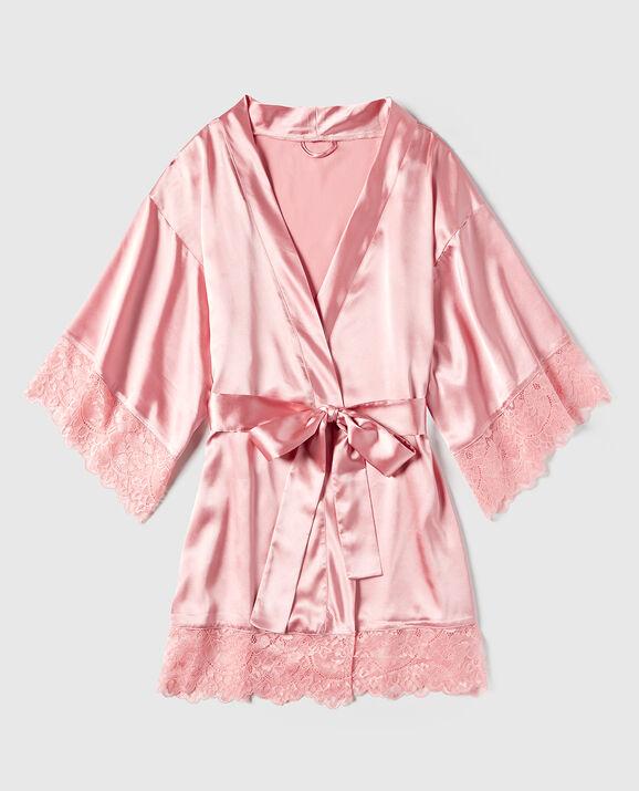 Satin Kimono Bridal Rose 1