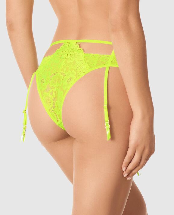 Cheeky Lace Garter Panty Sirio 2