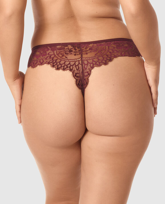 High Waist Thong Panty Espresso 2