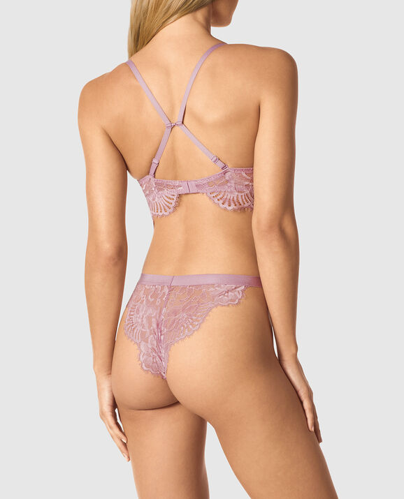 Lightly Lined Demi Bra Soft Mauve 2