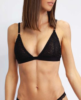 Clement Lace Bralette Smoulder Black 1