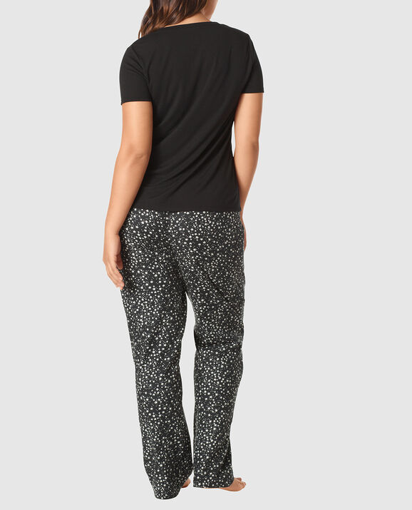 The Cozy Pajama Set Black Star 3