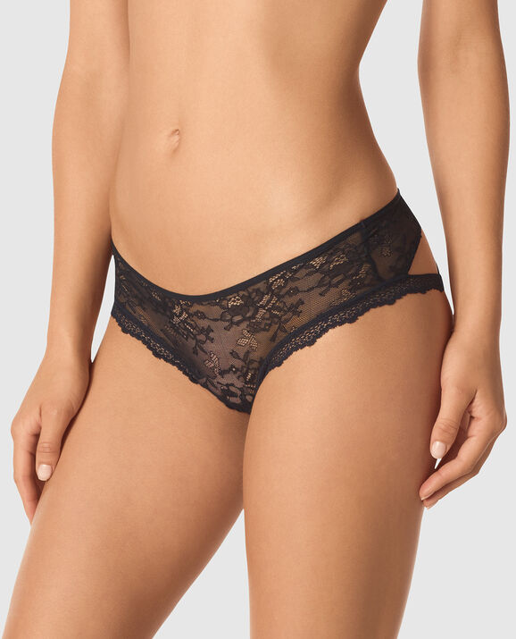 Bumless Brazilian Panty Smoulder Black 1