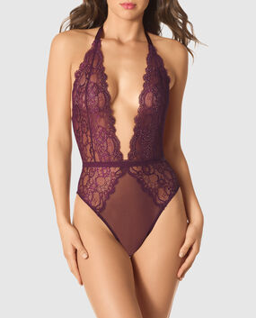 Open Back Lace Bodysuit