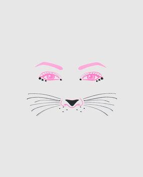 Kitty Face Tattoo