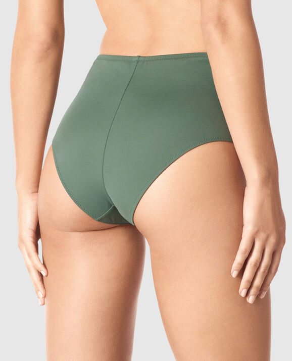 High Waist Cheeky Bottom Olive 2