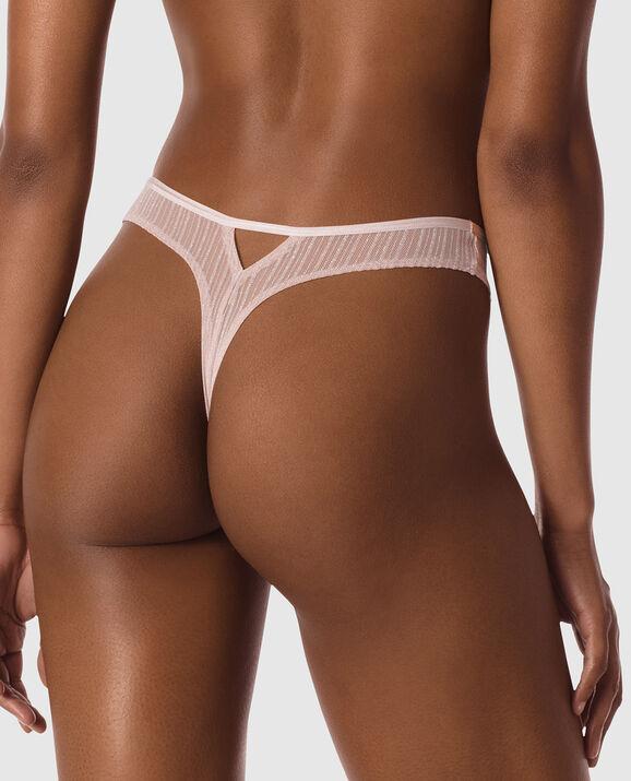 High Leg Thong Panty Lavender Stone 2