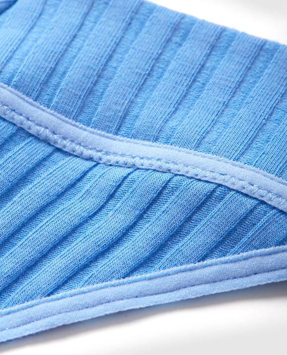 Ribbed Thong Panty Deep Sky Blue 3