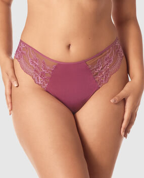 High Waist Thong Panty Bayberry 1