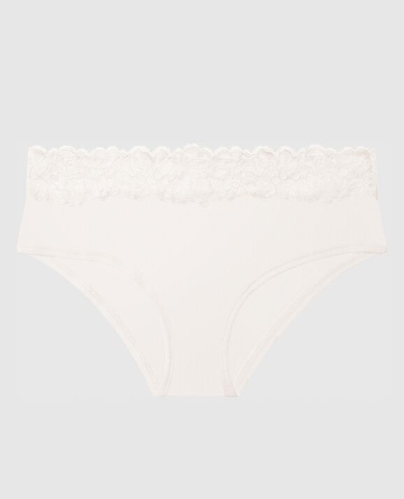 Ribbed Hipster Panty Coconut White 1