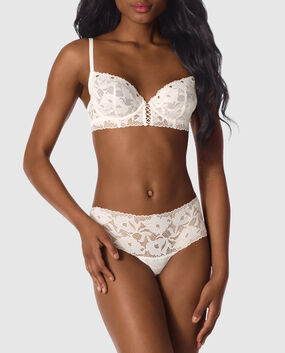 Unlined Demi Bra Coconut White 1