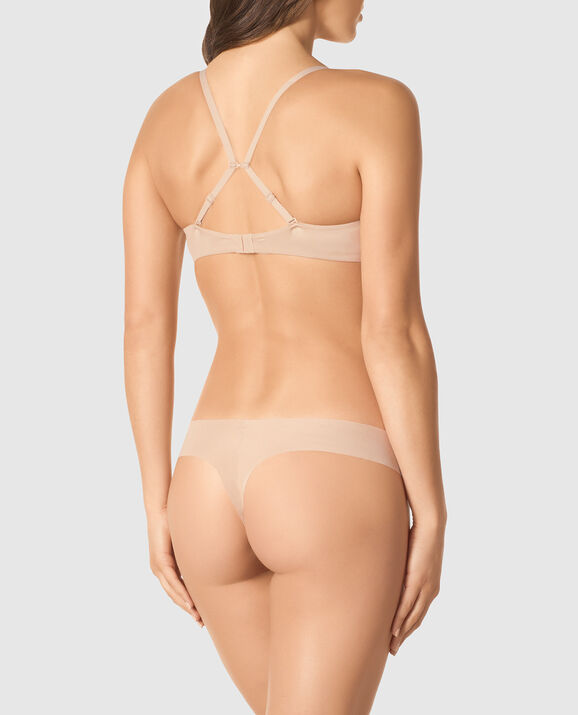 Lightly Lined Demi Bra Rose Tan 2