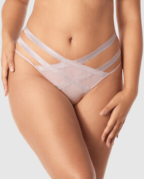 High Waist Thong Panty Lavender Stone 1