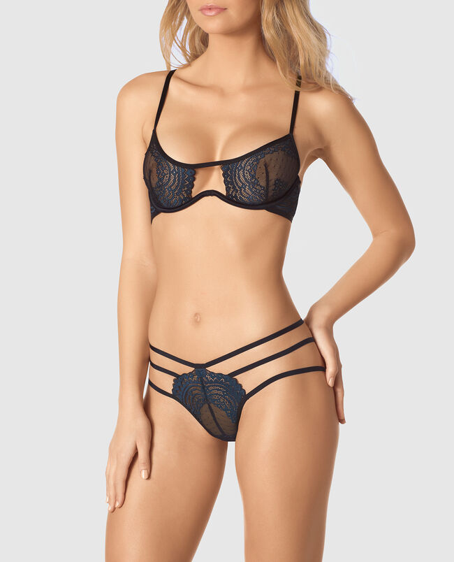 Strappy Unlined Lace Bra