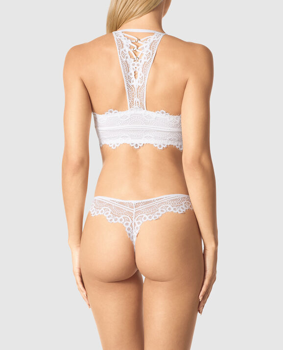 Front-Close Full Coverage Bra White 2