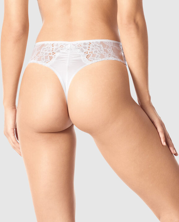 High Waist Thong Panty Ivory 2