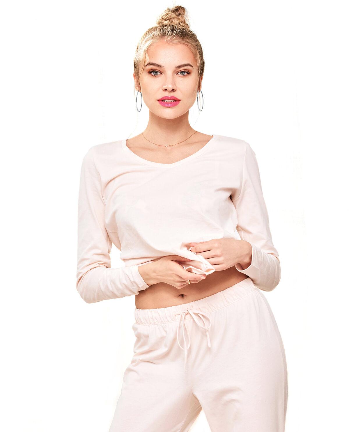 La senza Long Sleeve V-Neck Sleep & Lounge COLOR Primrose Pink S M L XL