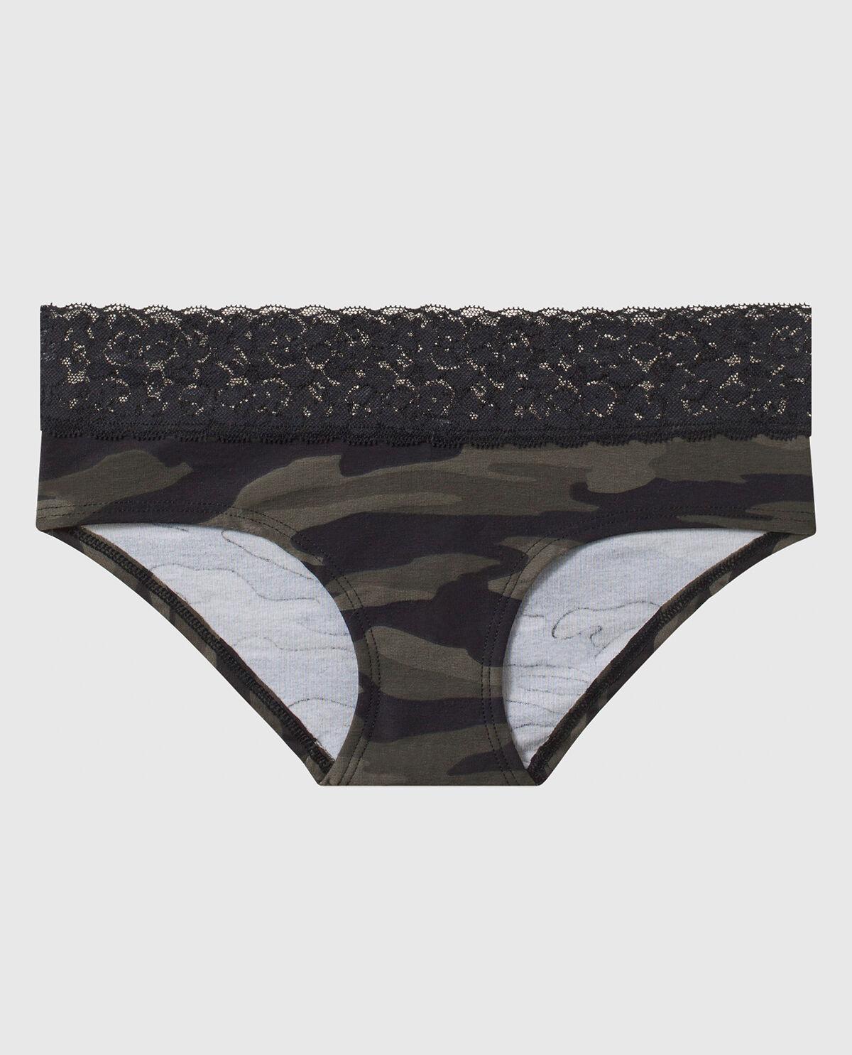 Zebra Lace Hipster Boyshort Panty Pink or Black