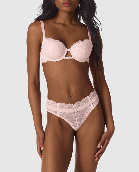Lightly Lined Balconette Bra Pink Fizz 1