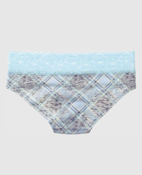 Hipster Panty Light Blue Grey Plaid 2