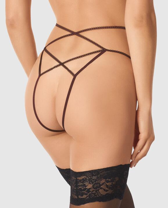 Bumless Garter Panty Dark Brandy 2