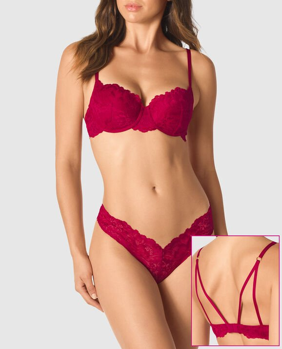 Lightly Lined Balconette Bra Razzleberry 1