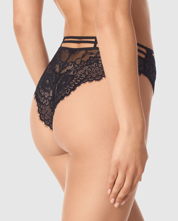 High Waist Cheeky Panty Smoulder Black 2