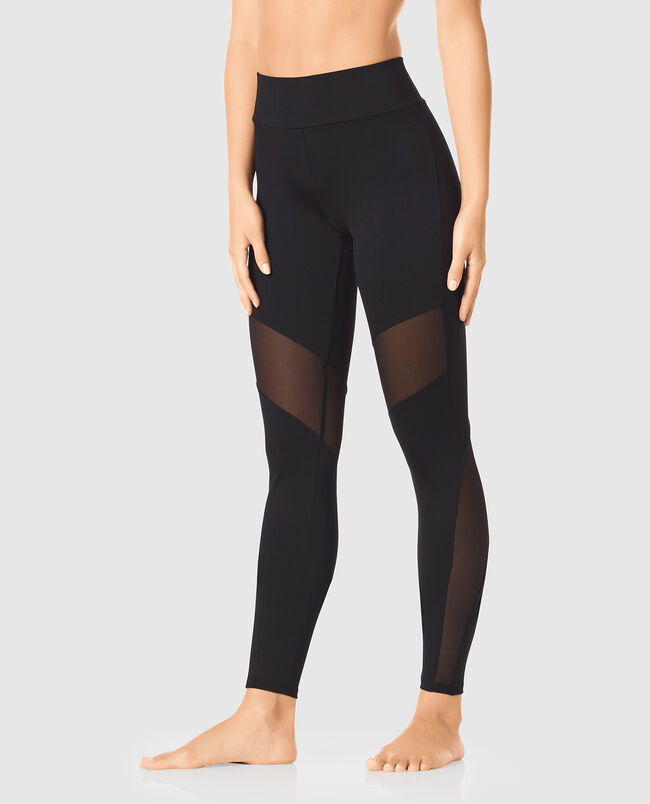 Legging with Mesh Inset
