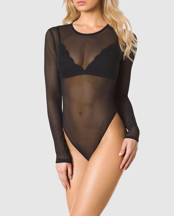 dfb2bd92f2 Long Sleeve Mesh Bodysuit - 24 Sexy New Arrivals - La Senza Lingerie