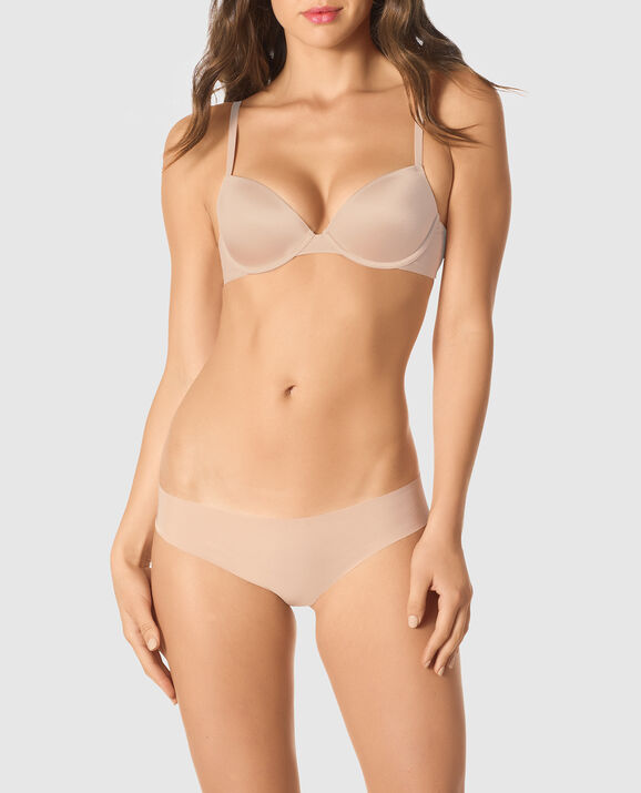 Lightly Lined Demi Bra Rose Tan 1
